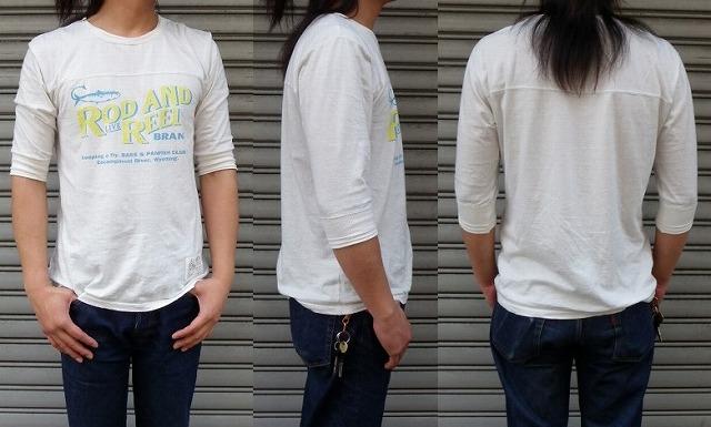 RIDING HIGH -ライディングハイ- 7分袖フットボールTシャツ ROD&R