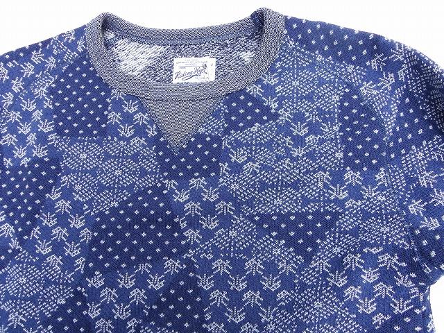 RIDING HIGH -ライディングハイ- 「祭り」をイメージしたジャガード編みのクルーネックプルオーバースウェット
