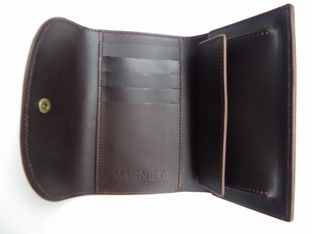 MAGNET-マグネット- 特許取得!スキモレザー使用のウッド柄!定番の3つ折りミドルウォレット 3柄 日本製