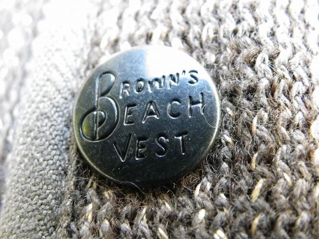 BROWNS BEACH -ブラウンズビーチ- FULLCOUNT産!定番のバックシンチ付きのアーリーベスト OXFORD GREY 日本製