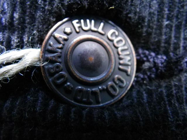 FULLCOUNT -フルカウント- 3rdタイプGジャン型コーデュロイボアジャケット ブラック 日本製