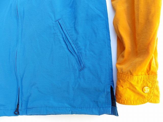 桃太郎ジーンズ 50%コットン50%ナイロン素材のライトなアウター!2トーンジップパーカー 2色 日本製