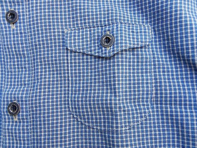 ORGUEIL-オルゲイユ- ドレスカジュアルなインディゴチェックシャツ 日本製