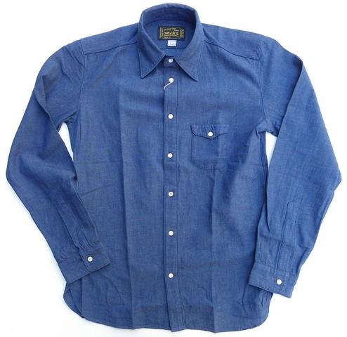 ORGUEIL-オルゲイユ- タテヨコインディゴ糸で織り上げた上品な表情のシャンブレーシャツ 日本製
