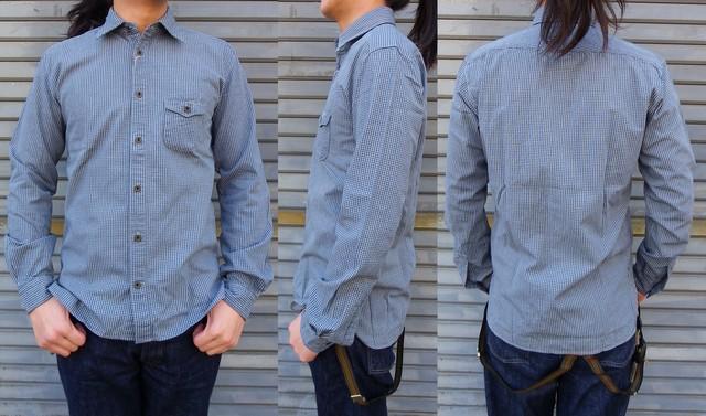 ORGUEIL-オルゲイユ- ドレスカジュアルなインディゴチェックワークシャツ 日本製