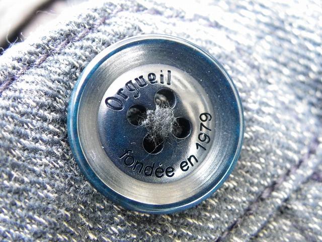 ORGUEIL-オルゲイユ- しっかりとしたコットン撚り杢ツイル地を使用したクラシック ロウ トラウザーパンツ 日本製