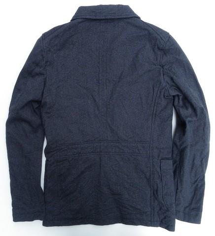 ORGUEIL-オルゲイユ- しっかりとしたコットン撚り杢ツイル地を使用したサックジャケット 日本製