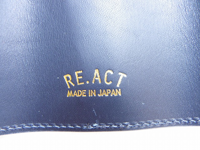 RE.ACT -リアクト- 藍染め刺し子風プリント キーケース 日本製