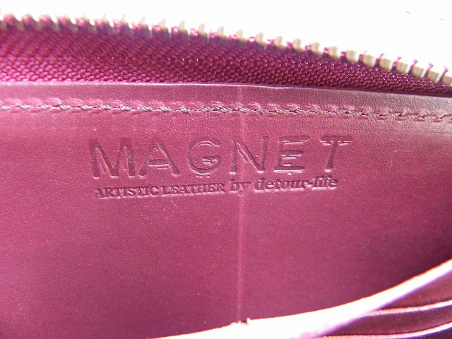 MAGNET-マグネット- Vanilla Box別注!特許取得のスキモレザー!ウッドレインボー柄ロングジップウォレット 日本製