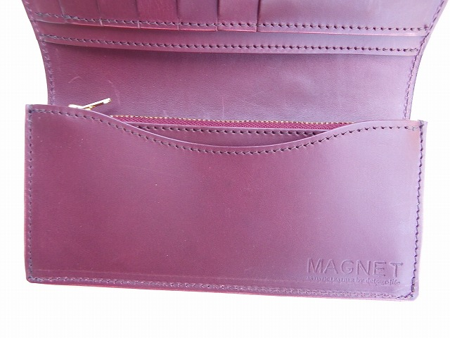MAGNET-マグネット- Vanilla Box別注!特許取得のスキモレザー!ウッドレインボー柄ロングウォレット 日本製