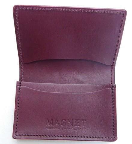 MAGNET-マグネット- Vanilla Box 限定販売!特許取得のスキモレザーウッドレインボーを使用したカードケース 日本製