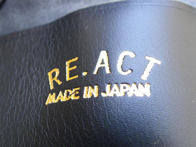 RE.ACT -リアクト- 国内でなめしたタンロー革を泥染めしてクロコ型押ししたコインケース 日本製