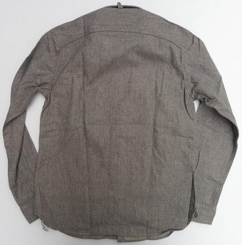 ORGUEIL-オルゲイユ- クラシカルな雰囲気!杢シャンブレーワークシャツ  グレー 日本製