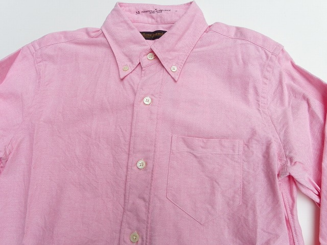 FULLCOUNT-フルカウント- 大人気の定番!オックフォードボタンダウンシャツ ピンク 日本製