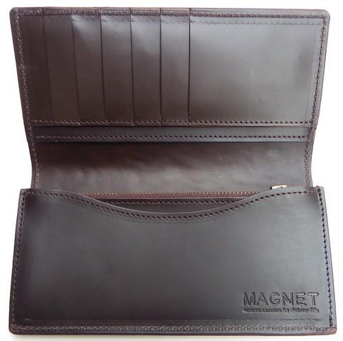MAGNET-マグネット- 内革ペコスハード新型!特許取得のスキモレザー! カードポケットも多いロングウォレット 4柄 日本製