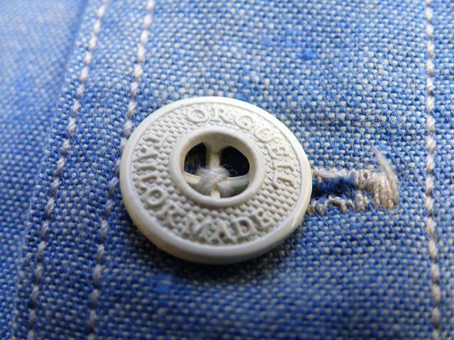 ORGUEIL-オルゲイユ- インディゴネップシャンブレー7分袖シャツ 日本製