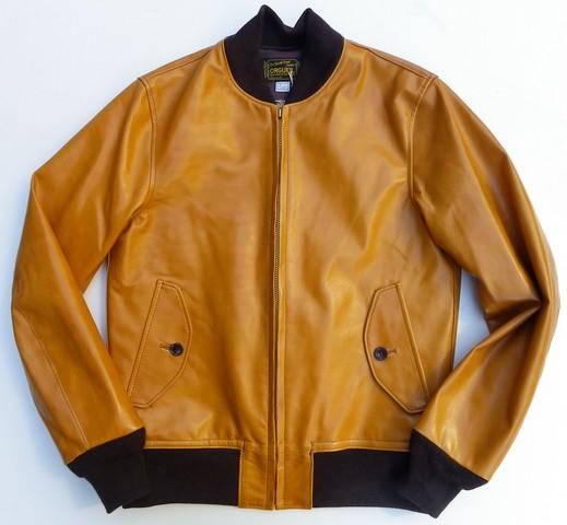 ORGUEIL-オルゲイユ- 上質なオイルアップされた馬革!ホースレザースポーツジャケット キャメル 日本製
