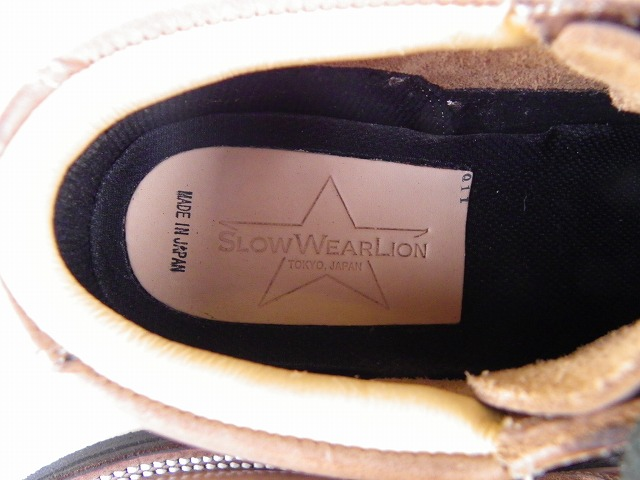 SLOW WEAR LION-スローウェアライオン- ホーウィン社クロムエクセルレザー使用のオックフォードシューズ ナチュラル 日本製
