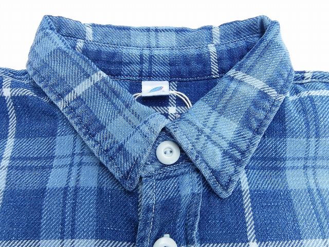 pure blue japan -ピュアブルージャパン- エイジング加工ライトネルワークシャツ 日本製