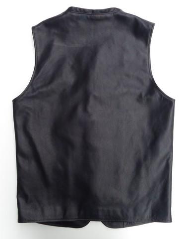 ORGUEIL-オルゲイユ- しっとり柔らかな質感!ステアオイルカウハイドのジレ ブラック 日本製