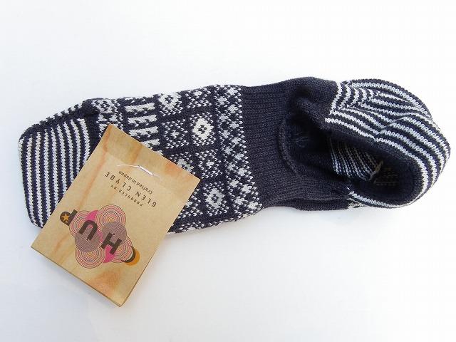 グレンクライド -CHUP- コーマ糸使用!伝統的な津軽こぎん刺し子をモチーフにしたカバーソックス MODOKO-モドコ-  3色 日本製