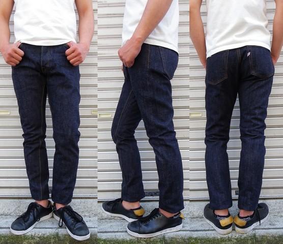 pure blue japan-ピュアブルージャパン- xx019 ワタリにやや余裕を持たせたリラックステーパードジーンズ 日本製
