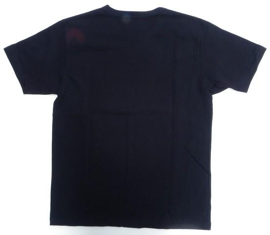 桃太郎ジーンズ ジンバブエコットン度詰めボディの革命家Tシャツ ブラック 日本製