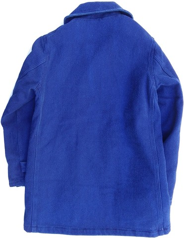 桃太郎ジーンズ インディゴ刺し子!軽くて暖かいシンサレート中綿入り!ミリタリーシングルPコート 日本製