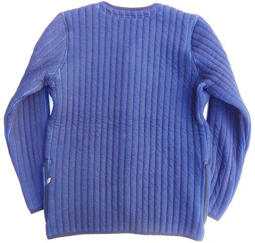 pure blue japan -ピュアブルージャパン- 中綿入り!インディゴ キルティングノーカラージャケット 日本製