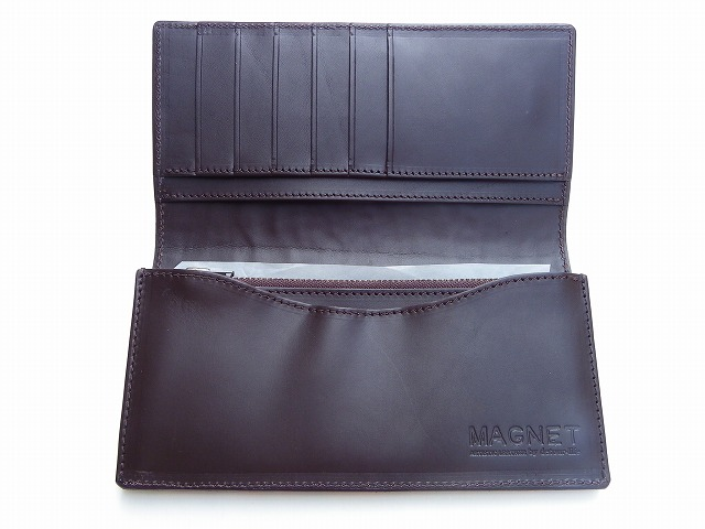 MAGNET-マグネット- ピッグレザーシリーズ!特許取得のスキモレザー! カードポケットも多いロングウォレット 2色 日本製