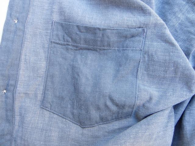 ORGUEIL-オルゲイユ- 内ポケット付き!ワークシャツ グレー  日本製
