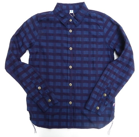 pure blue japan -ピュアブルージャパン- 立体的なインディゴチェックシャツ 日本製