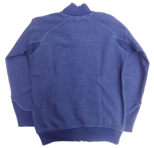 pure blue japan -ピュアブルージャパン- 綾裏毛と言う名の表情のある生地! 無地ジップスウェット 日本製