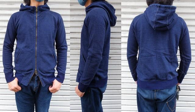pure blue japan -ピュアブルージャパン- 綾裏毛と言う名の表情のある生地! 無地ジップパーカー 日本製