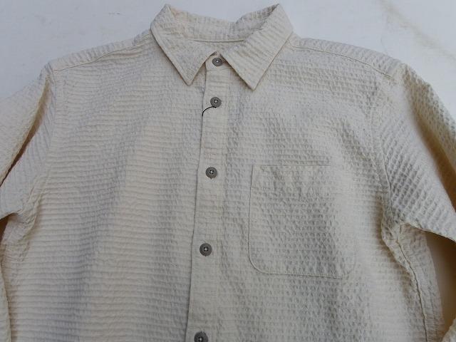 Vanilla Box 別注(?)桃太郎ジーンズ  刺し子サッカーシャツ ナチュラル 日本製