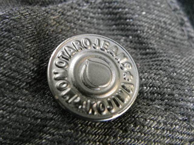 桃太郎ジーンズ 出陣レーベルB0105SP タテ糸・ヨコ糸共にブラック!しっかりテーパードさせた ブラックジーンズ ナローテーパード 日本製
