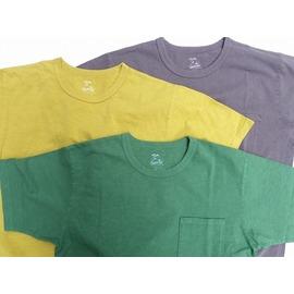 桃太郎ジーンズ 硫化染料にて製品染め!度詰め8.2oz ジンバブエコットンポケットTシャツ 無地 3色 日本製