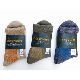 DEFENDER -ディフェンダー ヴァージンコットンの落ち綿のみを使用!至高のショートブーツソックス 8インチ丈  3色 日本製