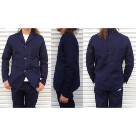 pure blue japan-ピュアブルージャパン-  先染めインディゴセルヴィッチ刺し子ジャケット 日本製