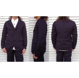 桃太郎ジーンズ ツイルヘリンボーン使用のワークテイストも感じるテーラードジャケット 日本製