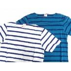 amanjakania アマンジャカニア ボーダーにジャガードで柄を表現したピクトボーダー半袖Tシャツ