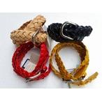 RE.ACT -リアクト- 高級なイタリアンレザー ブッテーロを使用した40mm巾の編み込みベルト 4色 日本製