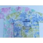 amanjakania -アマンジャカニア- タイダイ染めクルーネックプリントTシャツ 2色 日本製
