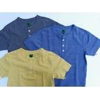 I.PJ -In-Proud Japan- ユニオンスペシャルの4本針フラットシーマー縫製!杢糸の鹿の子生地を使用したヘンリーネックTシャツ