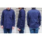 pure blue japan -ピュアブルージャパン- セルヴィッチデニムを使用したプルオーバー風ワークシャツ 日本製