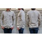 FULLCOUNT-フルカウント- フレンチヴィンテージライクな杢糸ヘリンボーンワークシャツ 日本製