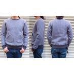 RIDING HIGH -ライディングハイ- ふっくらとした両面起毛のポケット付きウール混クルーネックスウェット  日本製
