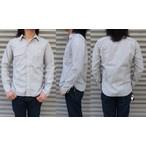 桃太郎ジーンズ 定番のセルヴィッチシャンブレーワークシャツのジンバブエコットンバージョン!グレー  日本製