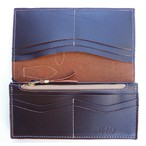 RE.ACT -リアクト- 北米産原皮を国内でなめしたオイルヌメ革を使用したカードポケットも多いロングウォレット
