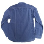 ORGUEIL-オルゲイユ- ヴィンテージ感と上品さの融合!インディゴストライプワークシャツ 日本製